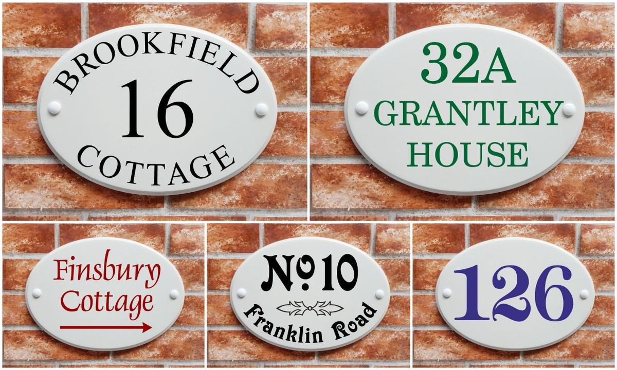 Bird personalised door plaques// door numbers Cottage Green Round House Sign