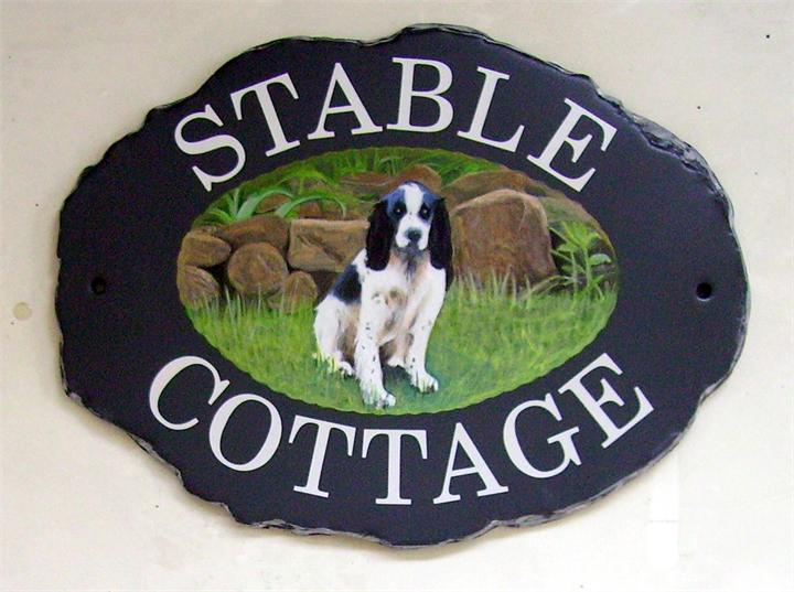 Spaniel house signs