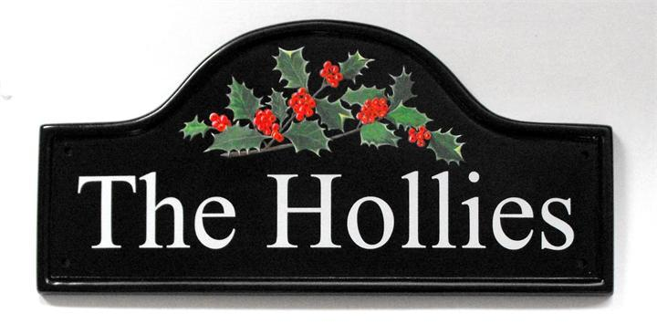 The Hollies house name plate
