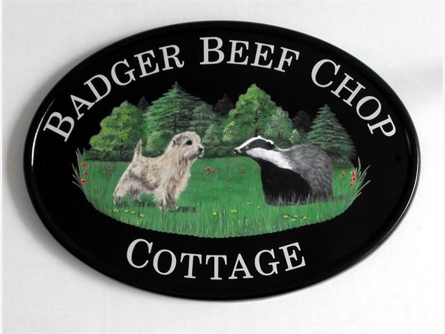 Dog & Badger sign