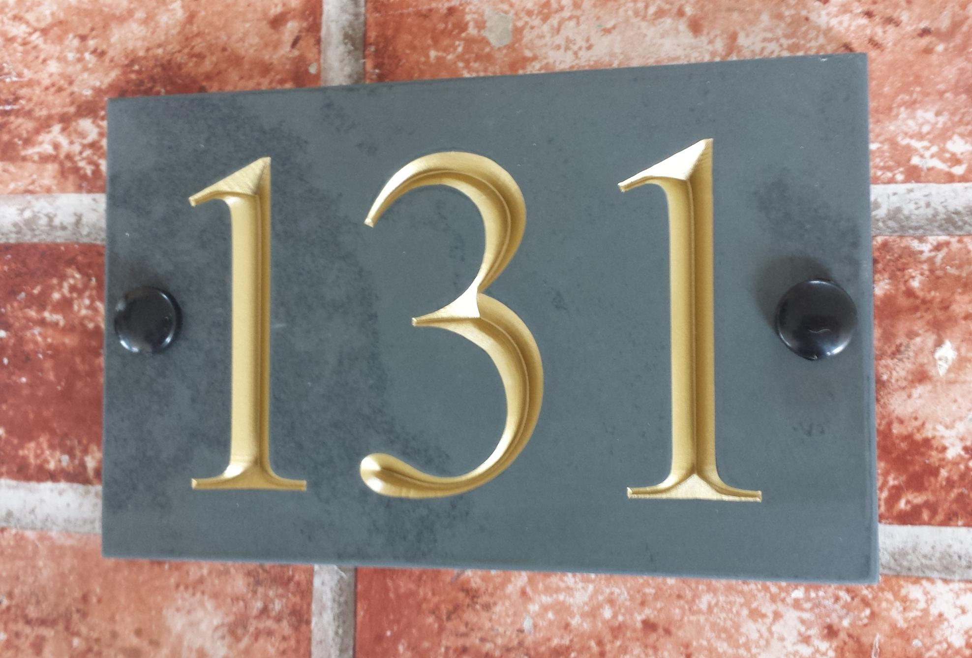 house-number-plate