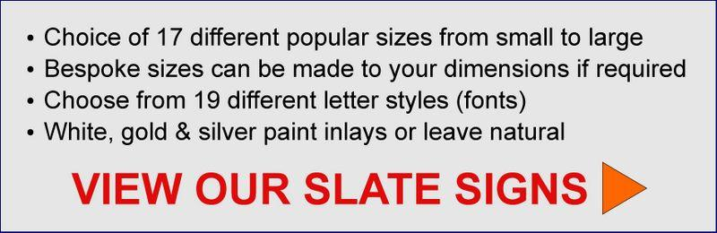 link button to buy house signs in slate