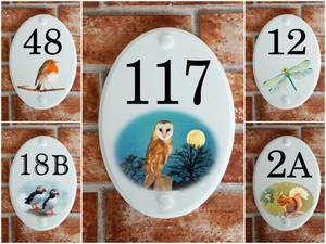 Pottery Style House Number Signs