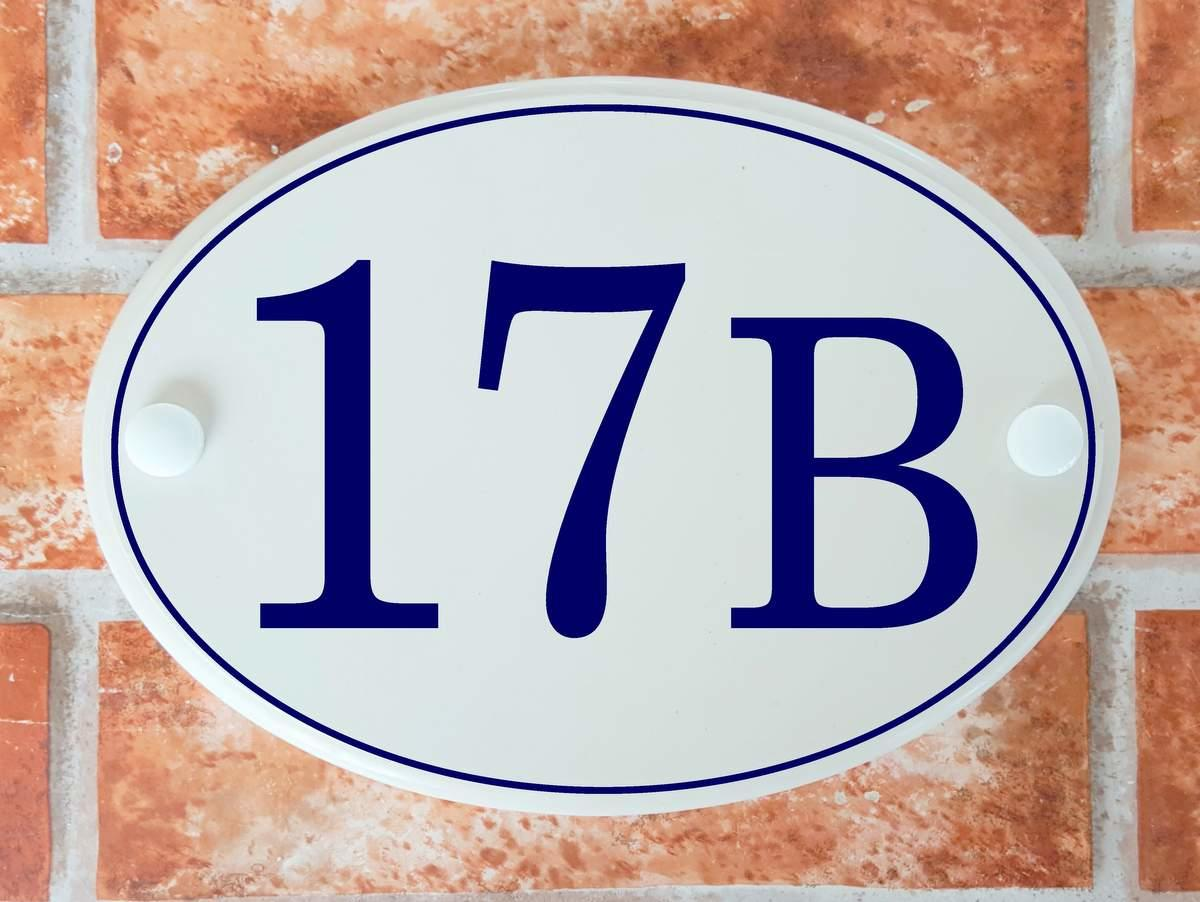 British house number plate - classic