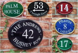 Round & Oval House Plaques
