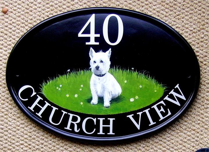 Scottish terrier plaque