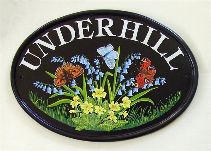 Flowers and butterflies sign