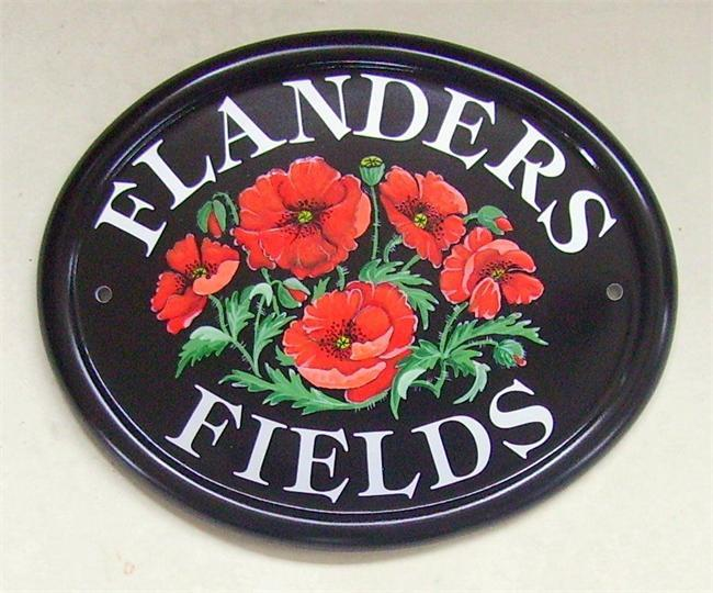 Poppies house name plate