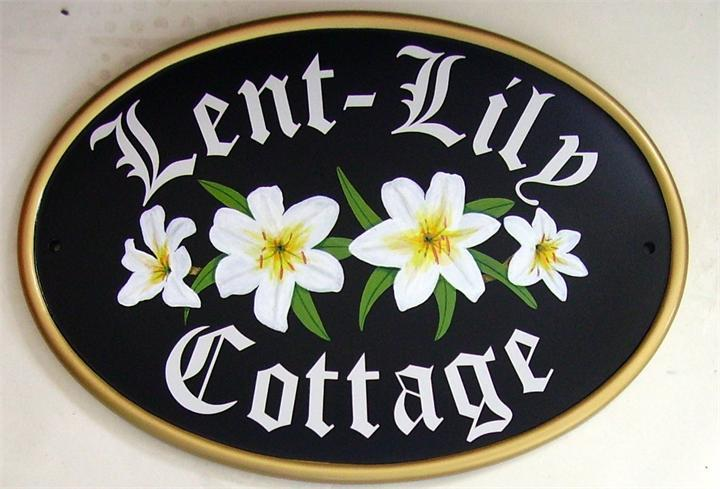 Lily cottage house name signs