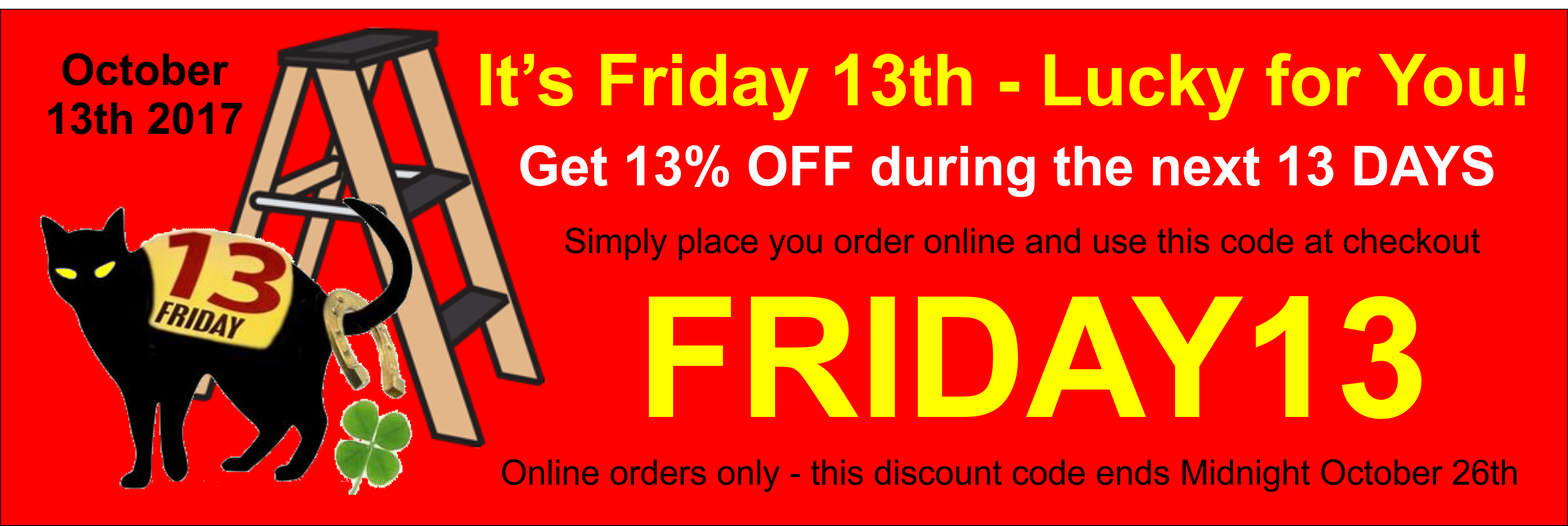 Friday 13th promo code