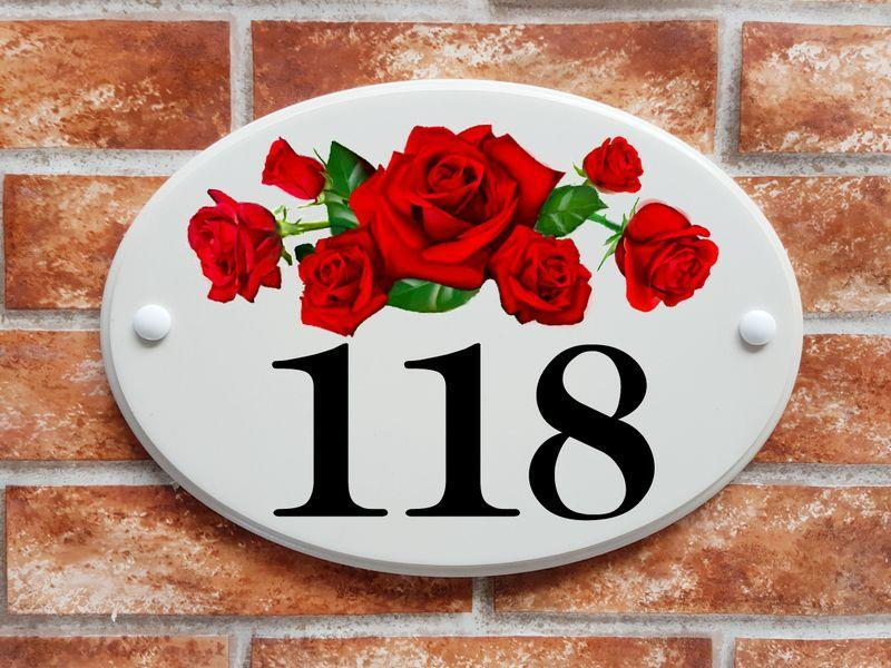 Red roses with number (code 045)