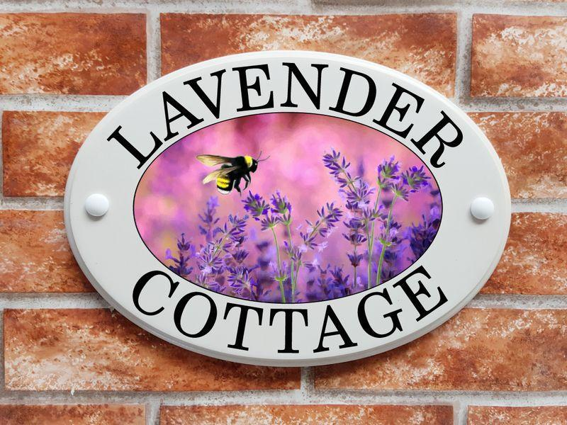 Lavender with a bumblebee (code 017)