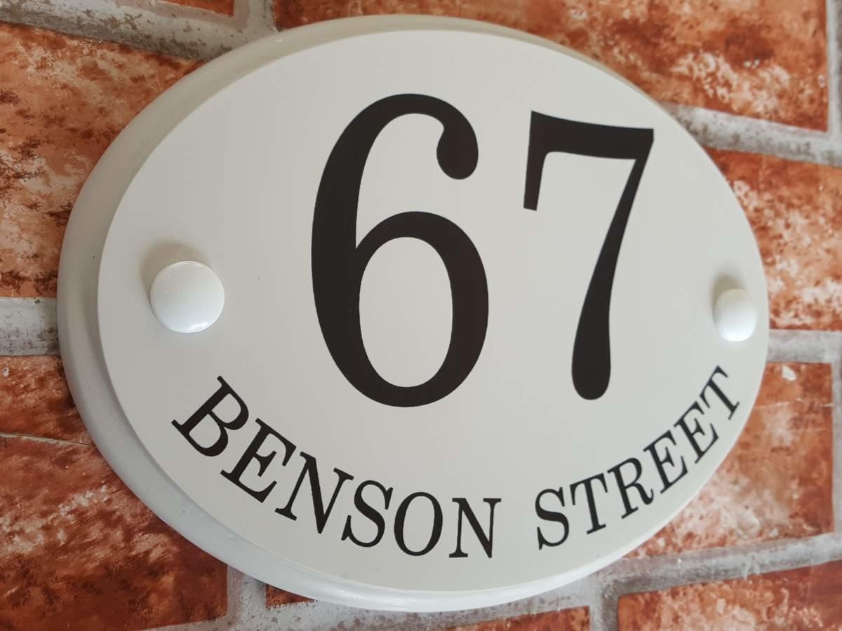 house number with Street Name