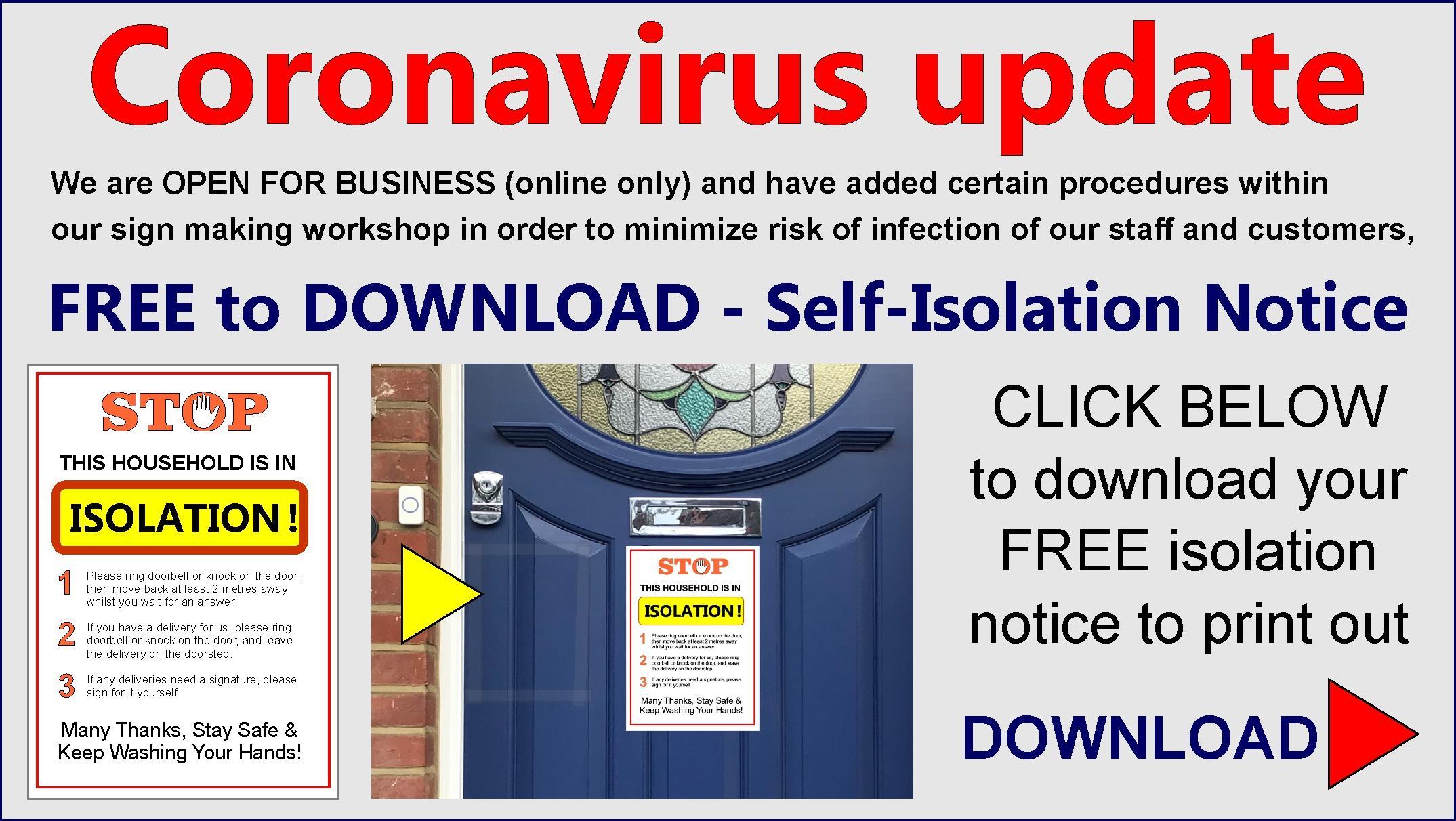 Link to coronavirus poster