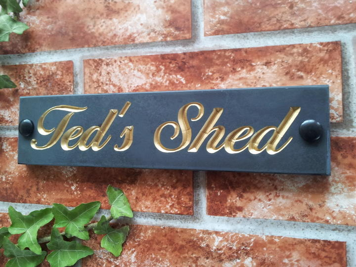 Example of Ted's Shed with gold inlay