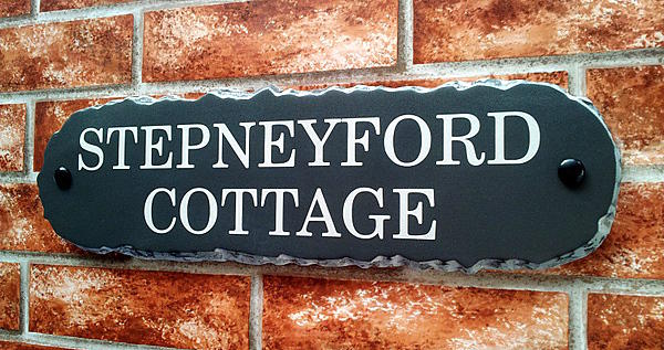 Rustic sign with house name 430mm x 115mm