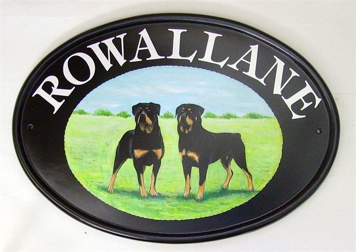 Rottweilers house signs