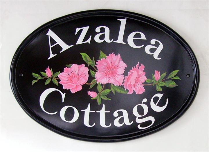 Pink Azaleas House Sign