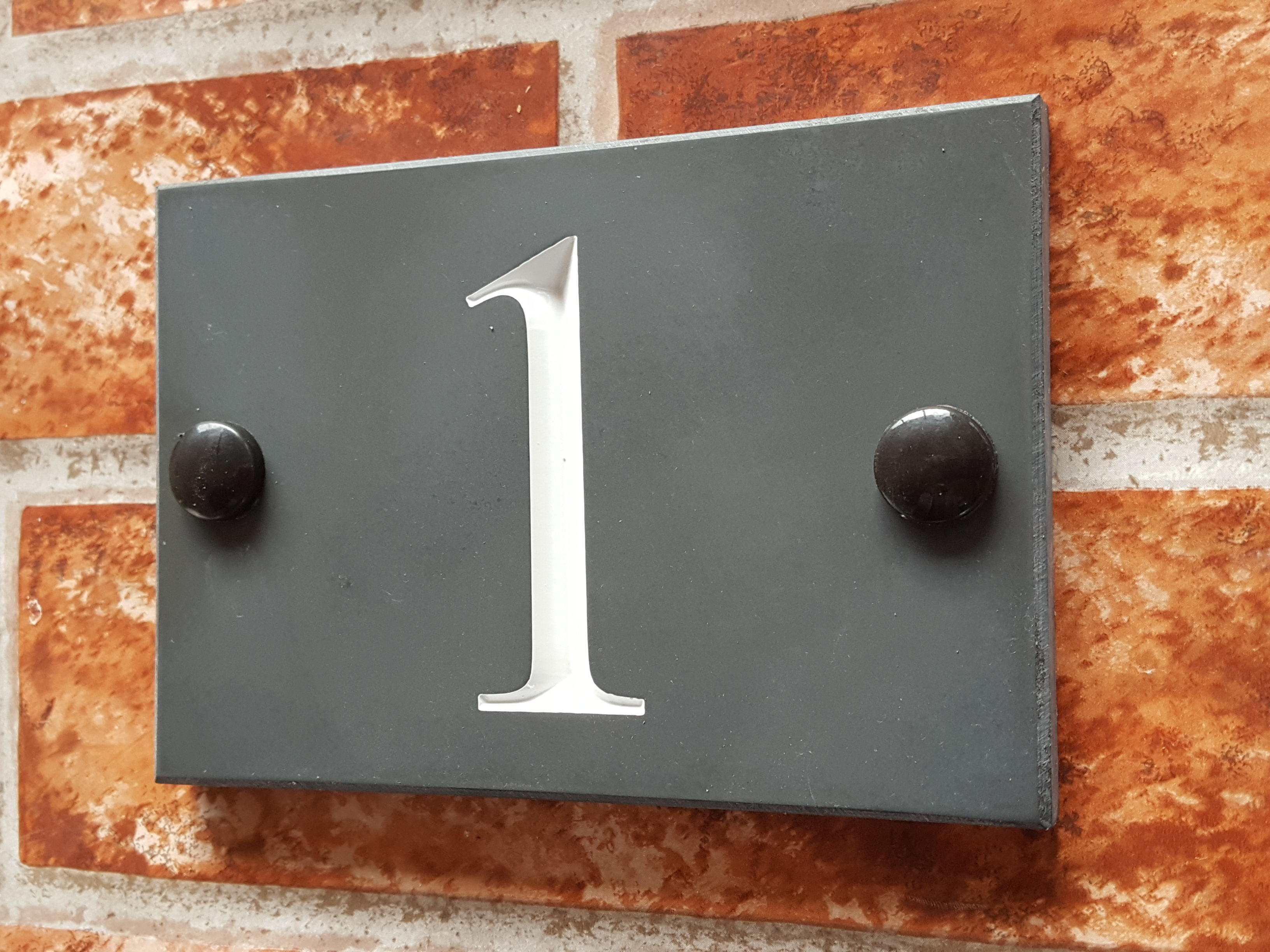 cheap slate number sign