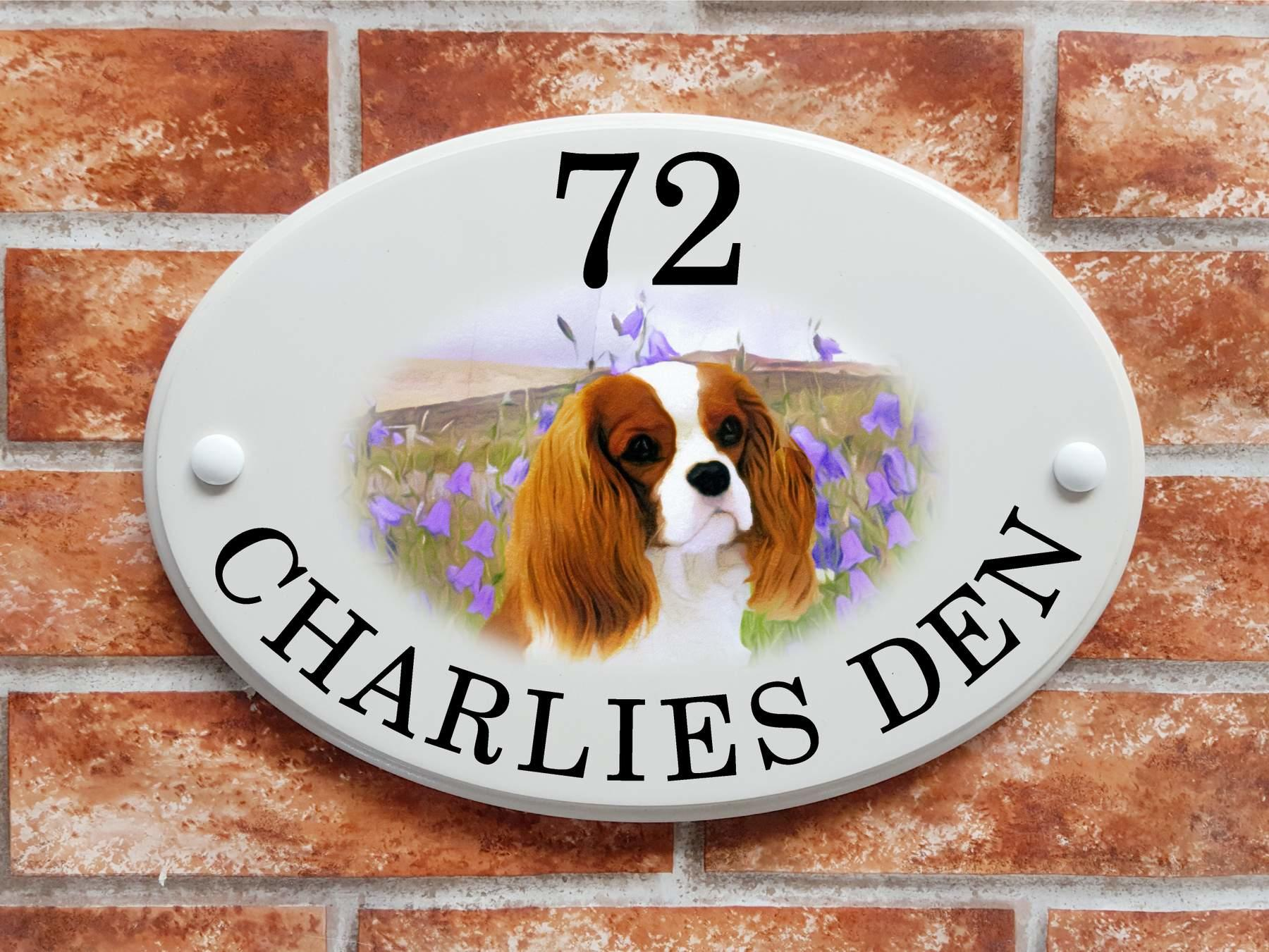 King Charles Spaniel sign   (code 092)