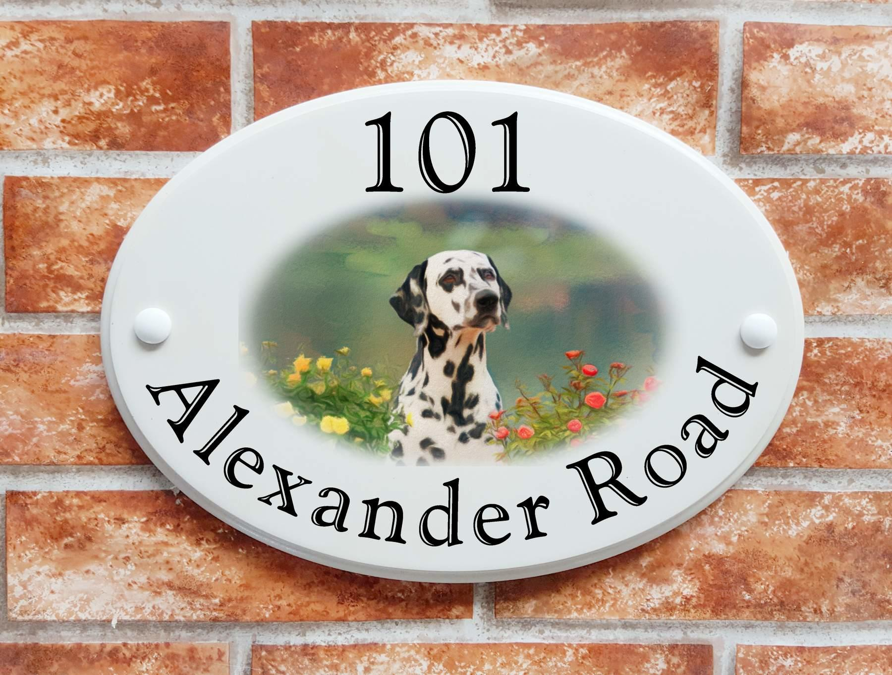 Dalmatian dog house plaque  (code 095)