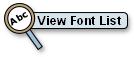 link button to view available fonts for house signs