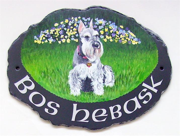 Dog portrait sign
