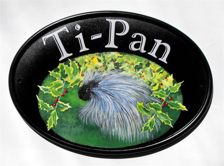 Porcupine house name plate