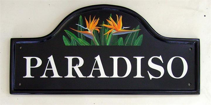 Bird of Paradise sign