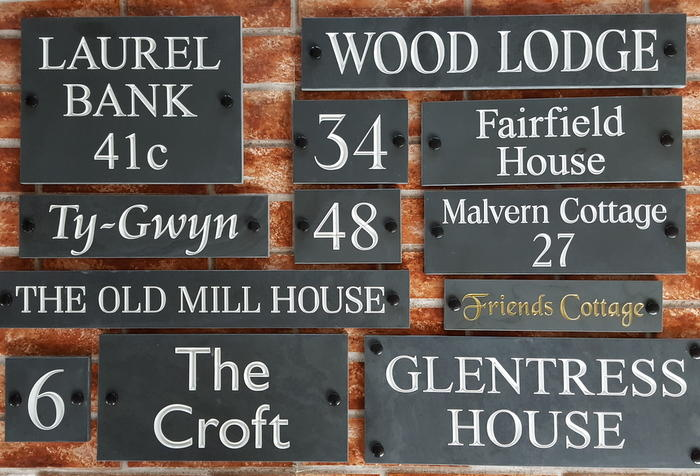Slate house name plaques & door signs by Yoursigns Ltd