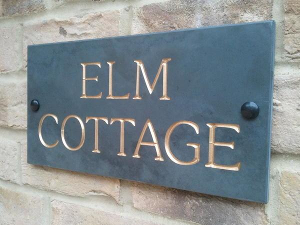 Example of Elm Cottage with gold inlay