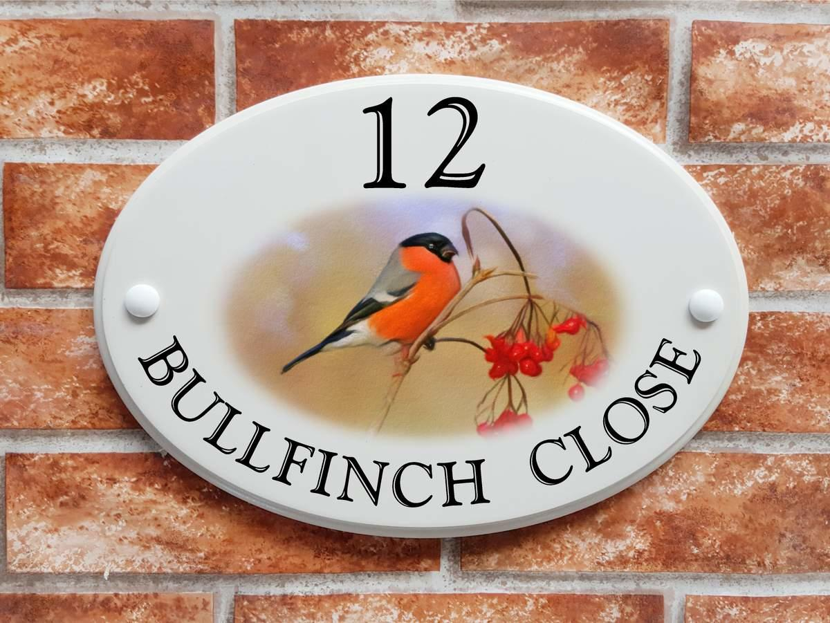 Bullfinch house sign (Code 074)