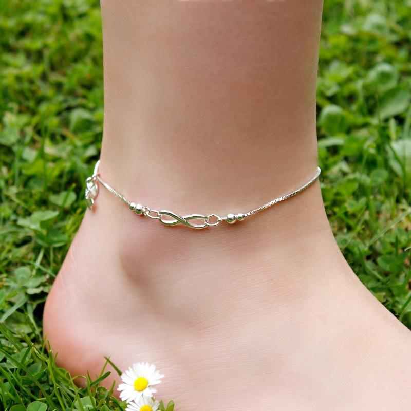 anklet gold spring infinity chain products bracelet