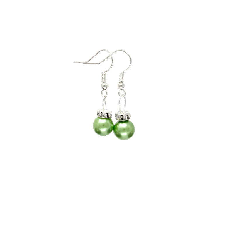 light green christmas bauble earrings