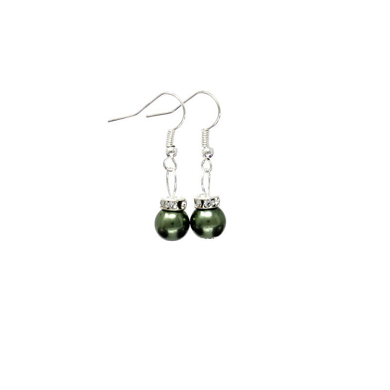 dark green xmas bauble earrings