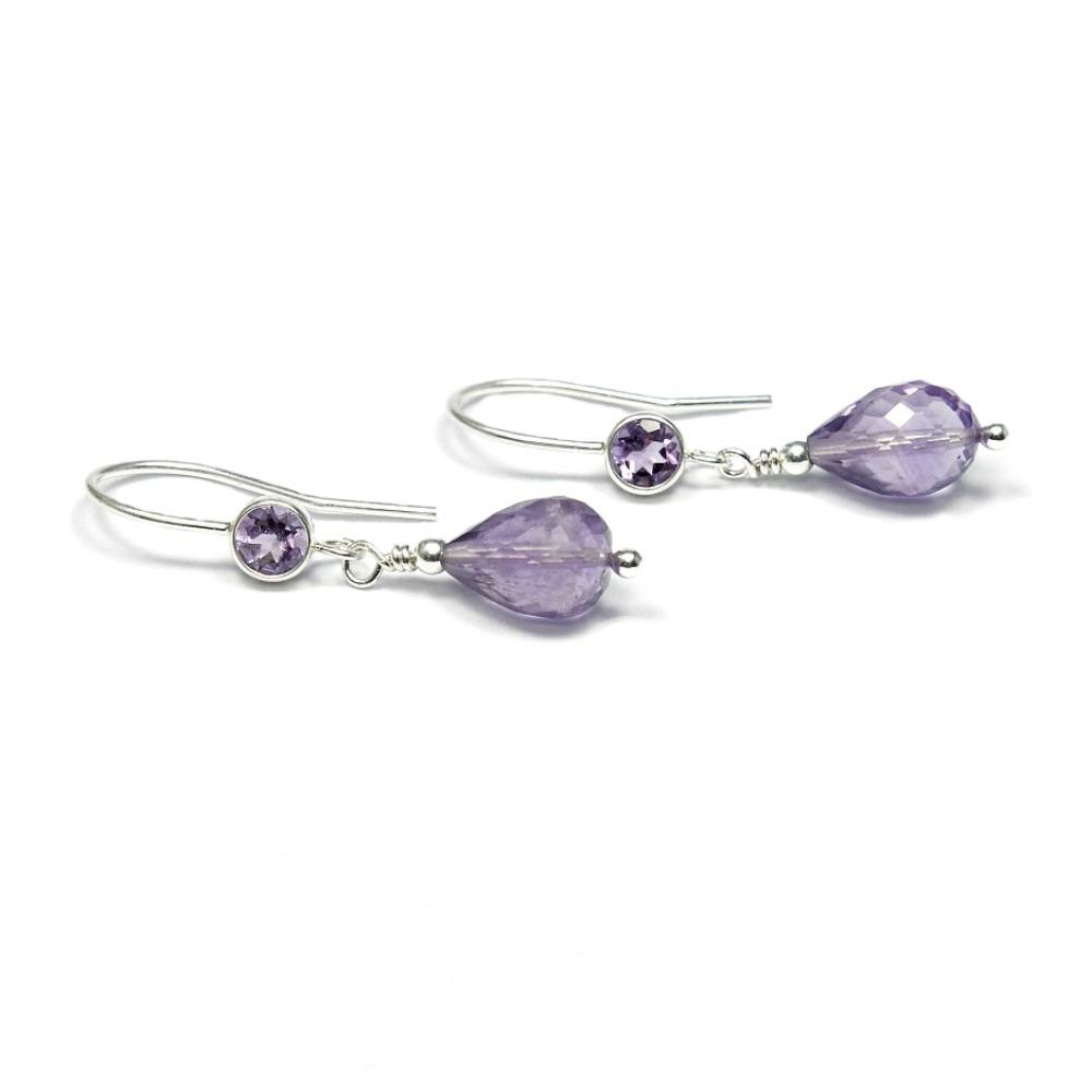 Silver & Amethyst earrings