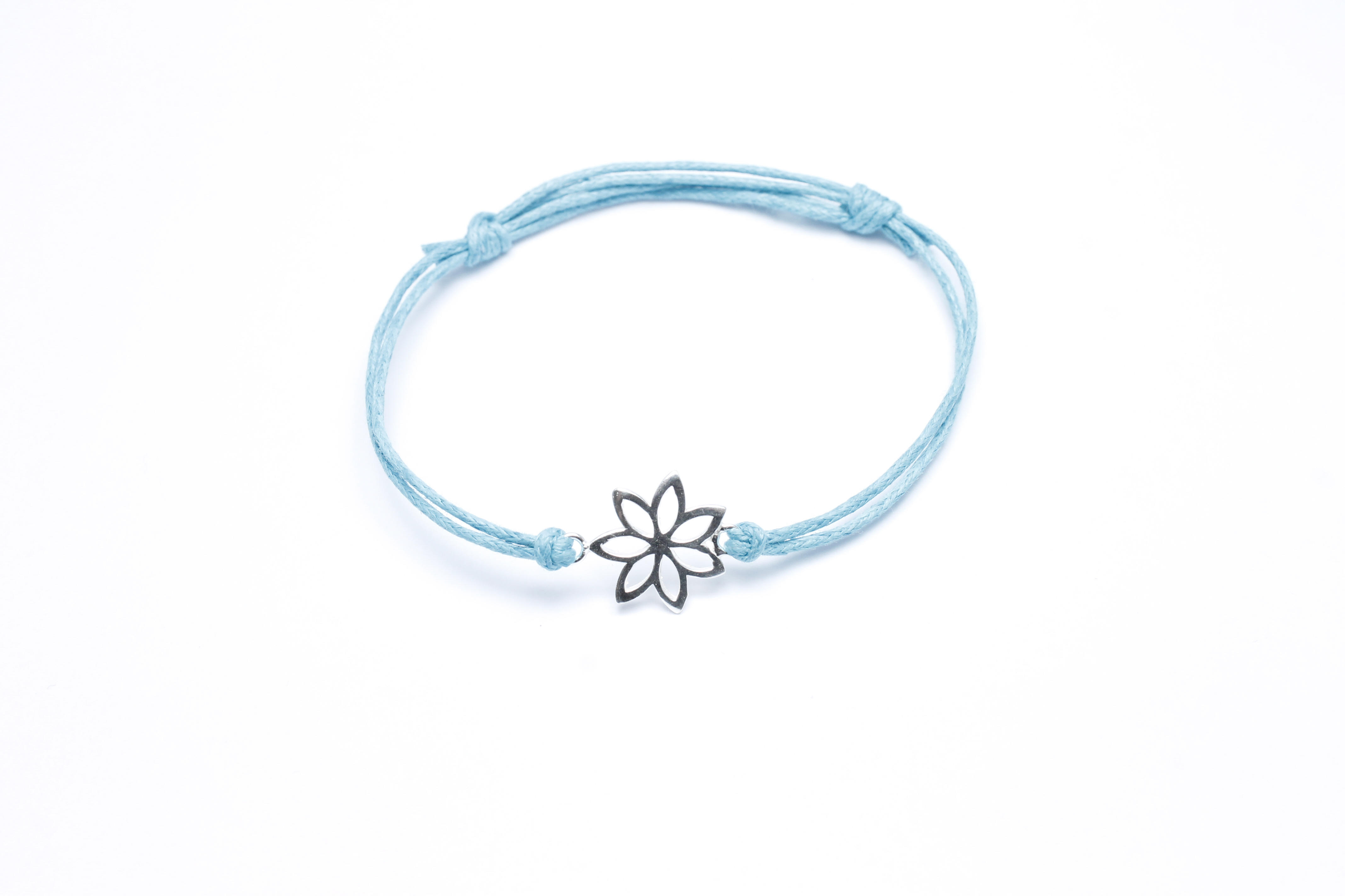 turquoise cotton flower bracelet