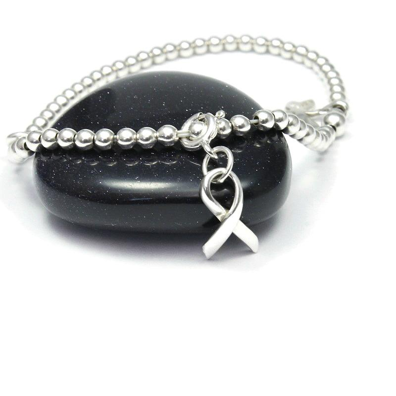 handmade awareness ribbon charm