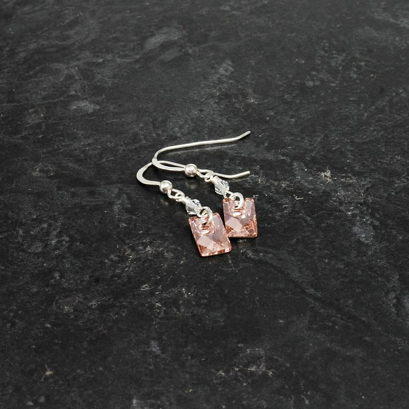 crystal & sterling silver earrings