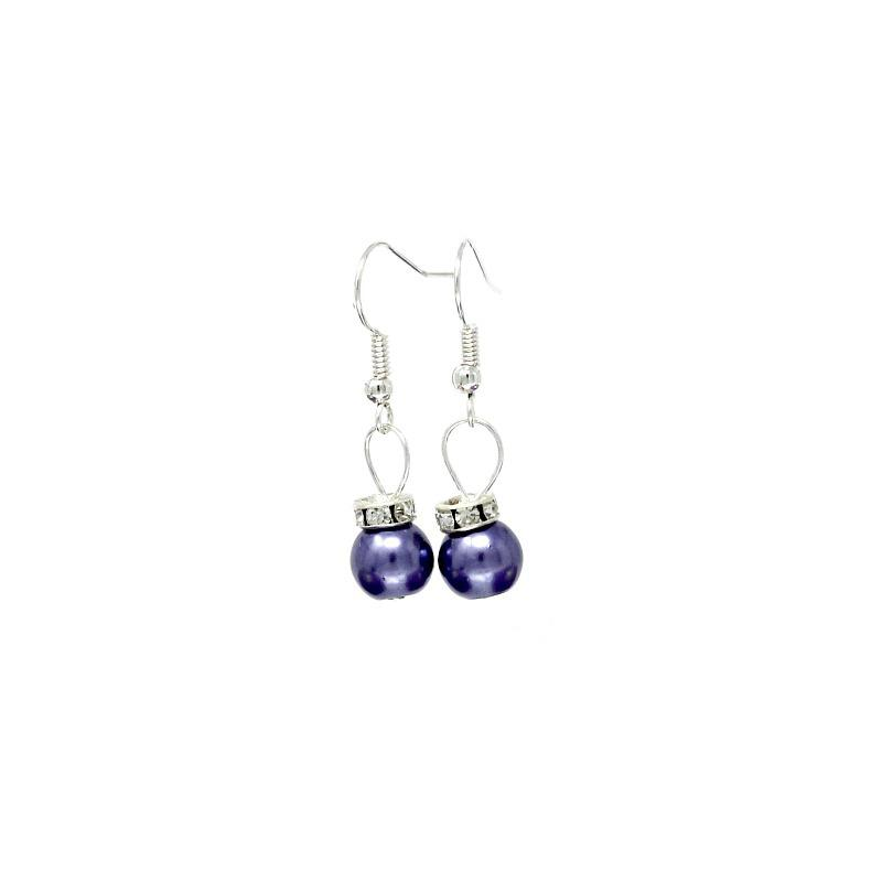 Purple Christmas bauble earrings