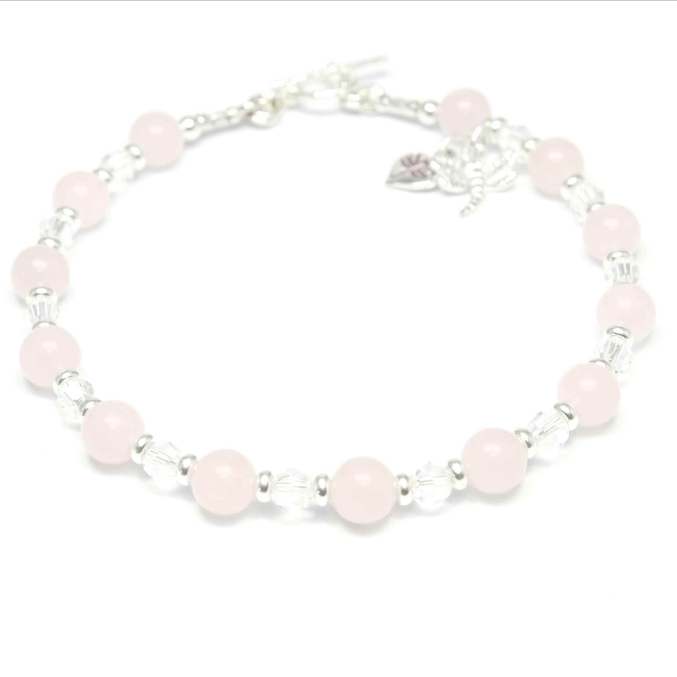 Rose Quartz & Crystal Bracelet
