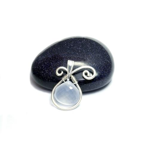 Silver & Blue Chalcedony Pendant