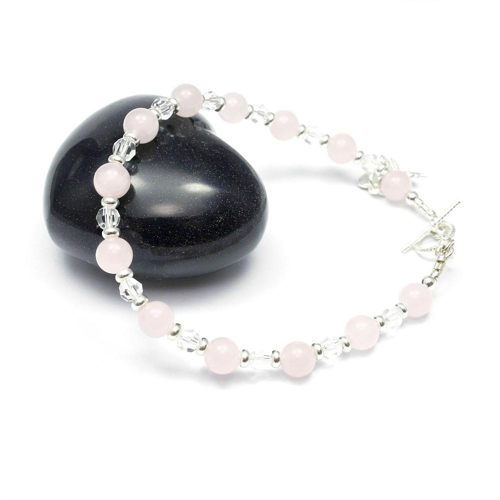 Crystal & Rose Quartz Bracelet