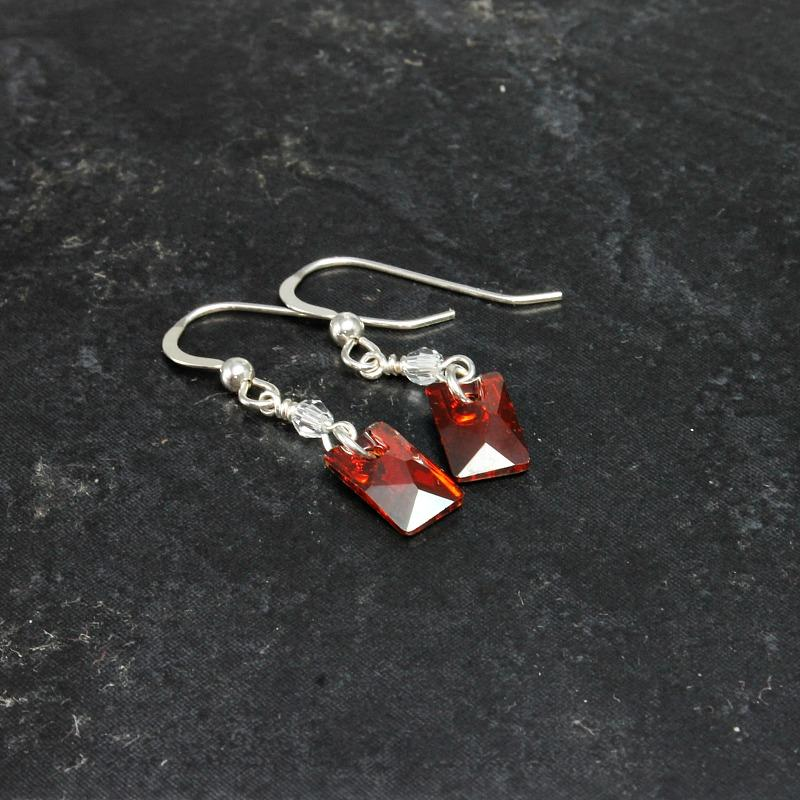 sterling silver & crystal earrings