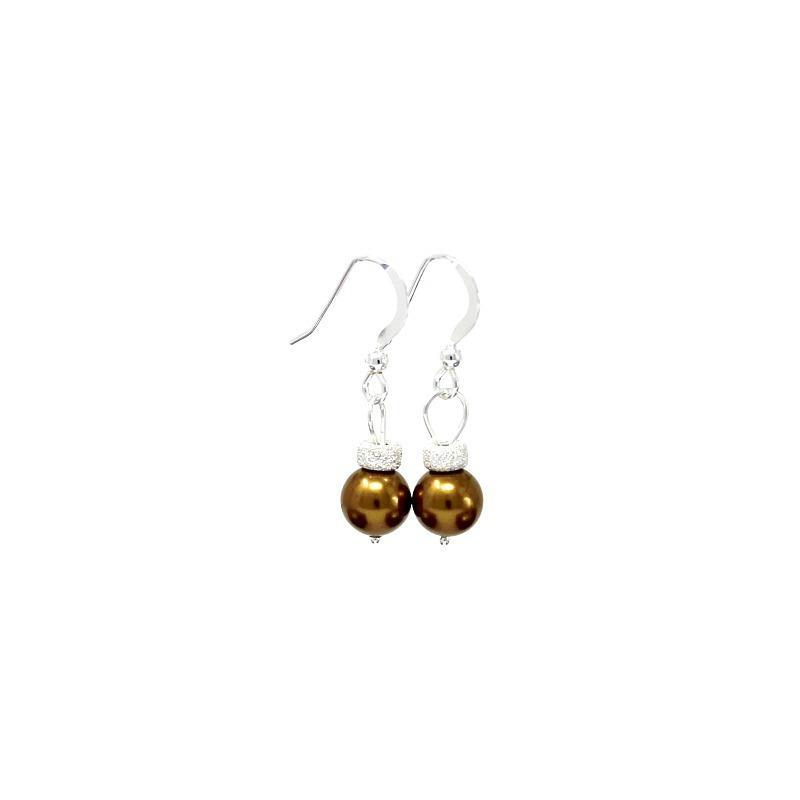 Swarovski christmas bauble earrings handmade christmas for Crystal baubles christmas