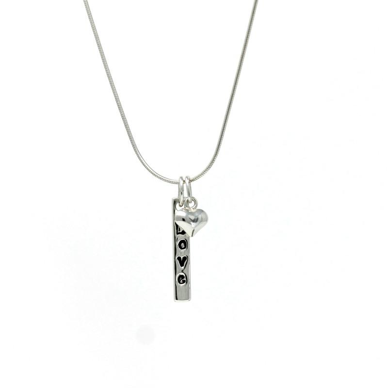 sterling silver pendant - Love