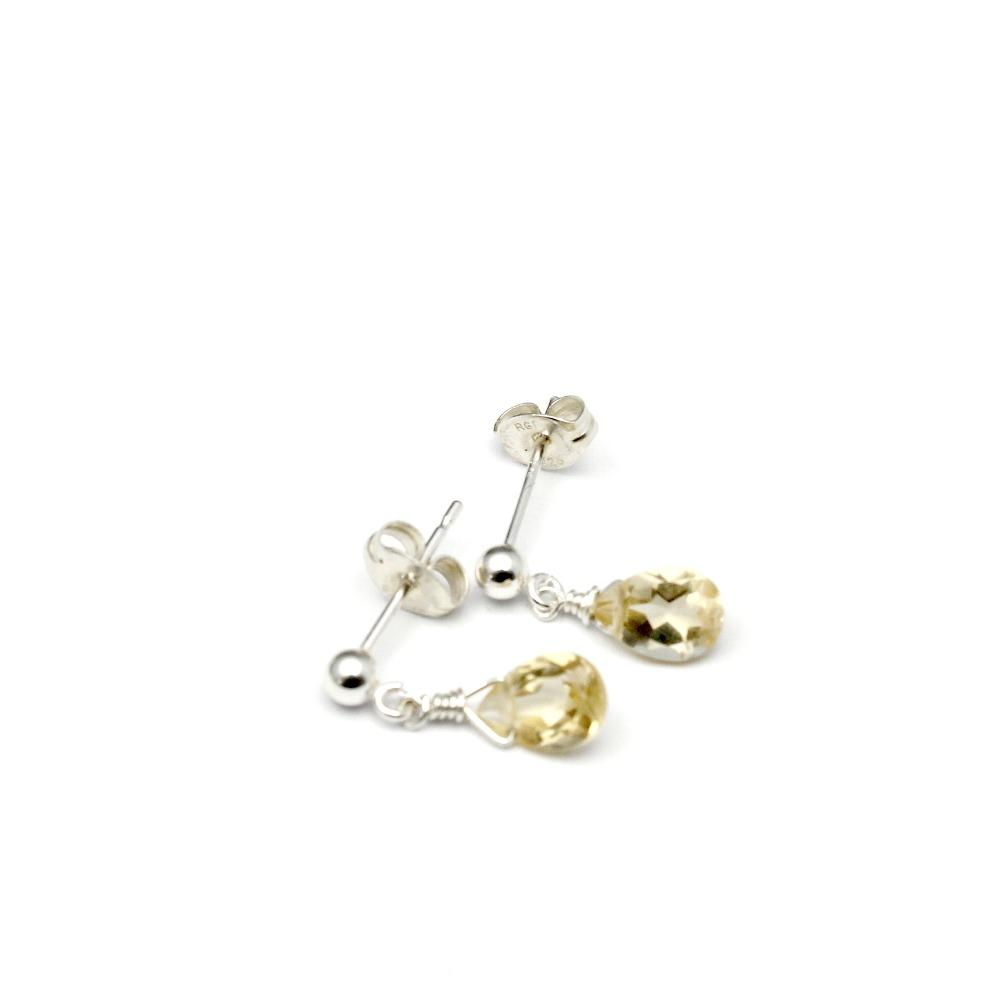 Silver & Citrine earrings