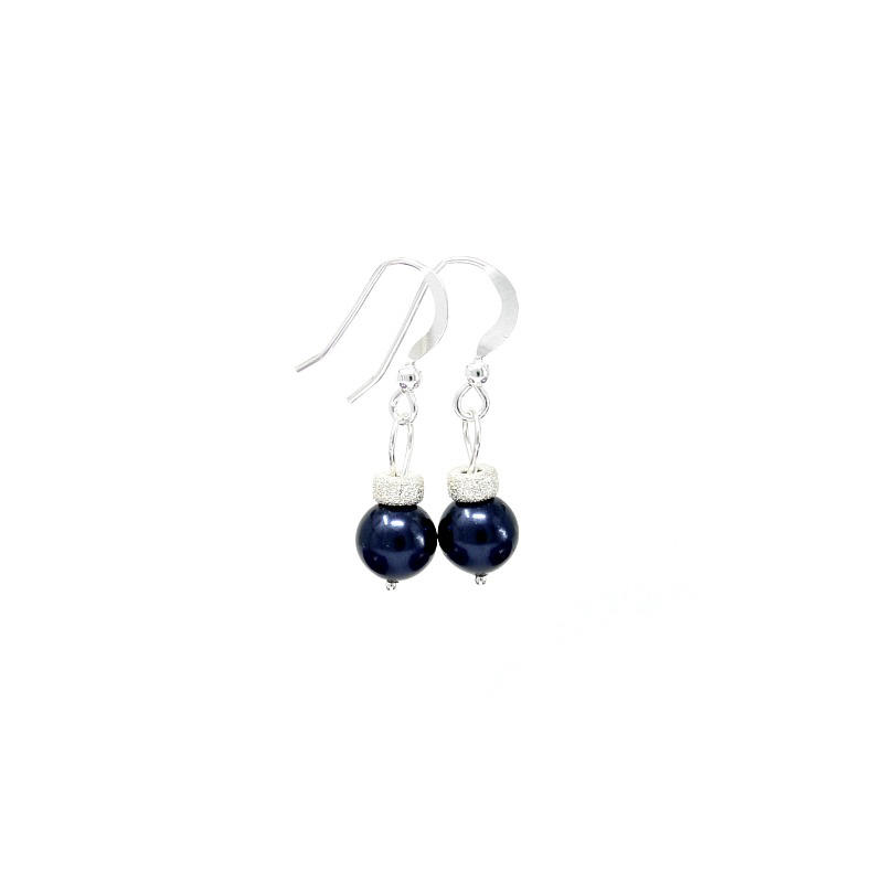 Midnight Blue Christmas Bauble earrings