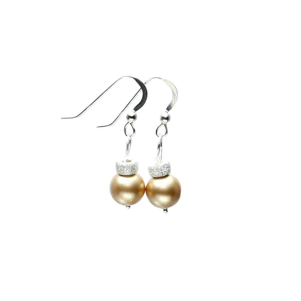 Gold christmas bauble earrings