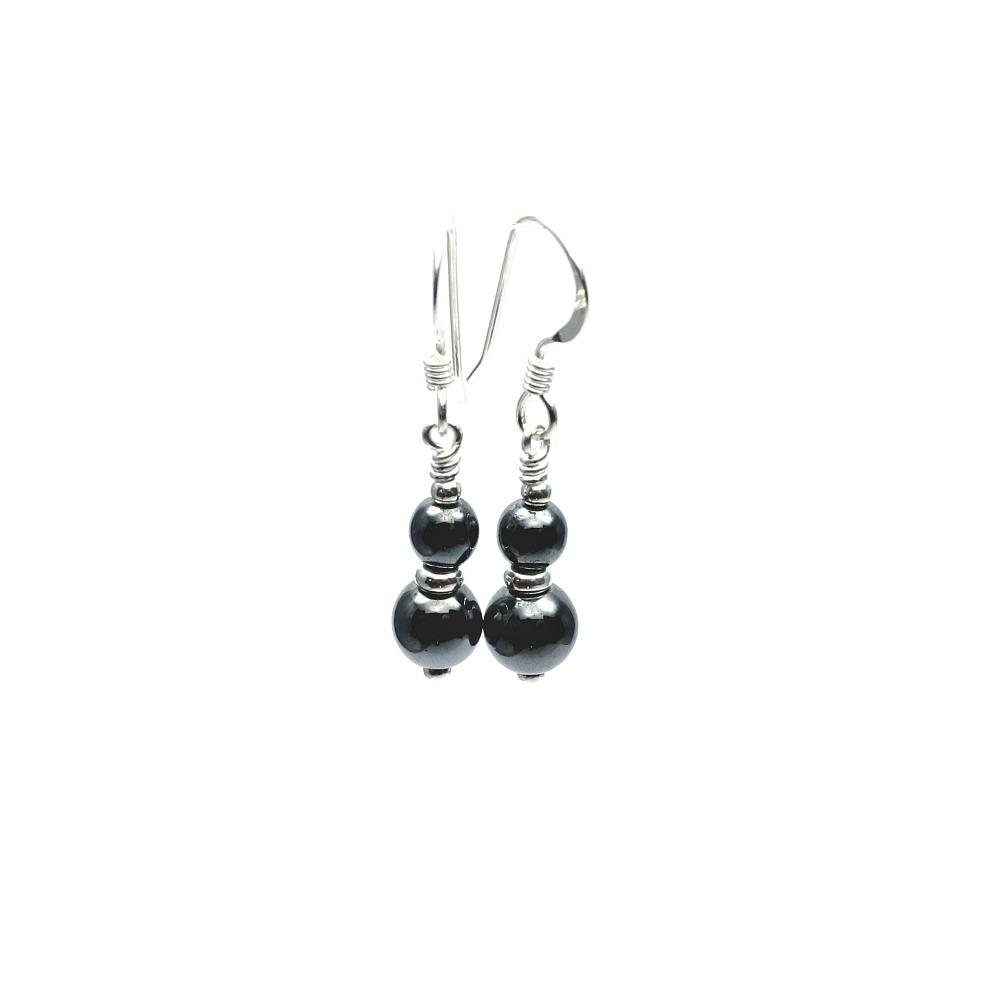 Silver & Hematite Earrings